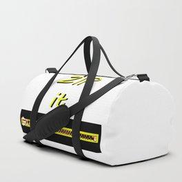 Zip it Black Yellow jGibney The MUSEUM Gifts Duffle Bag