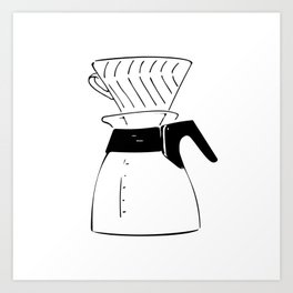 Coffee Tools: Pour-over Coffee Pot Art Print