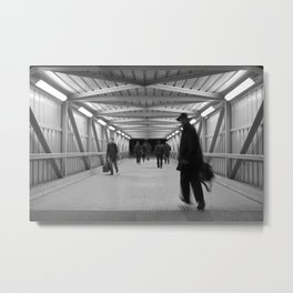 To Train Metal Print