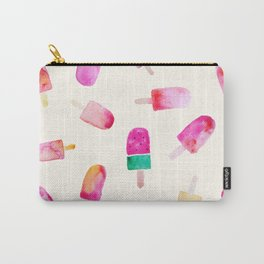 Popsicle pattern in yellow Carry-All Pouch