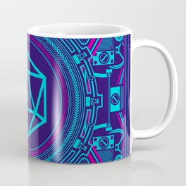 Dice Giveth and Taketh Away Cyberpunk D20 Dice Tabletop RPG Gaming Coffee Mug
