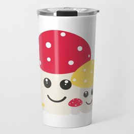 Cute colorful mushrooms Travel Mug