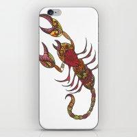 tatoo iPhone & iPod Skins featuring Tatoo Scorpion by PepperDsArt