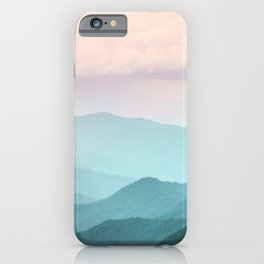 Smoky Mountain National Park Sunset Layers II - Nature Photography iPhone Case