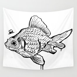 Mr Fish Wall Tapestry