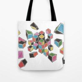 Exploded Rubik's Cube Tote Bag