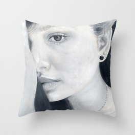 La lectora de almas Throw Pillow