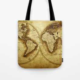 Antique Map of the World Tote Bag