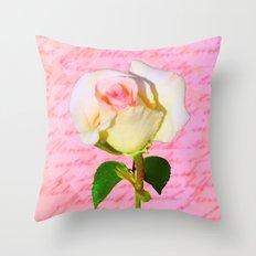 Rose Unfolding Throw Pillow