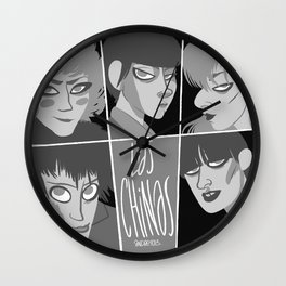 Las chinas Black and White Wall Clock