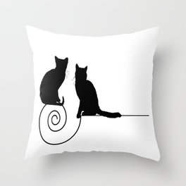 les chats #1 Throw Pillow
