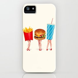 Combo Meal Pin-Ups iPhone Case