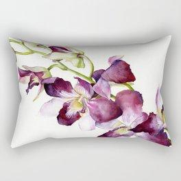 Radiant Orchids: Magenta Dendrobiums (Flipped Orientation) Rectangular Pillow