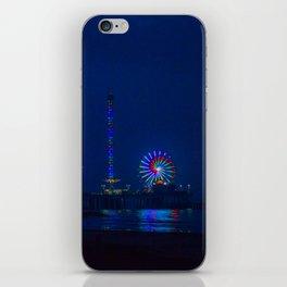 Galveston Pleasure Pier At Night iPhone Skin