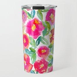 Hot Floral Mess Travel Mug