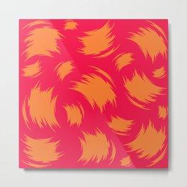 Painterly Orange Metal Print