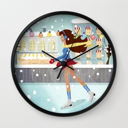 Ice Skating Girl Wall Clock