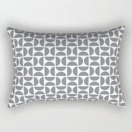 HALF-CIRCLES, GREY Rectangular Pillow