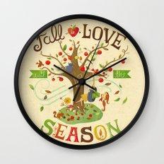Fall in Love with the Season Wall Clock