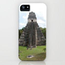 Tikal Mayan Ruins Guatemala iPhone Case