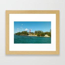 shoreline light Framed Art Print