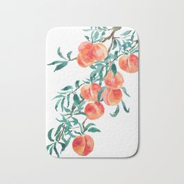 peach watercolor Bath Mat