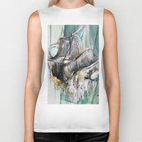 chandelier Biker Tanks featuring Vintage Chandelier  by Jessica Rae Sommer