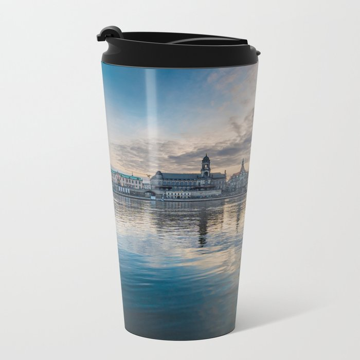 Sunset on Elbe Metal Travel Mug