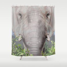 Foraging Elephant Shower Curtain