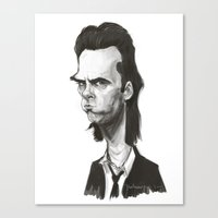 nick cave Canvas Prints featuring Nick Cave by Martynas Juchnevicius