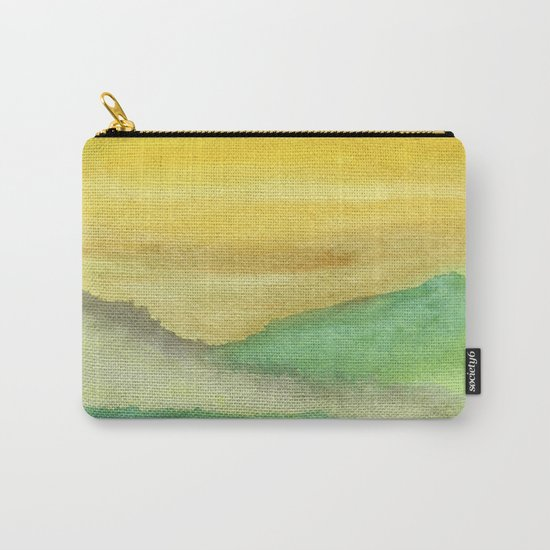 Watercolor abstract landscape 06 Carry-All Pouch