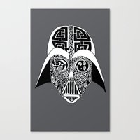 celtic Canvas Prints featuring Celtic Vader by ronnie mcneil