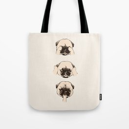 No Evil Pug Tote Bag