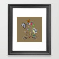 Poop On Everything Framed Art Print