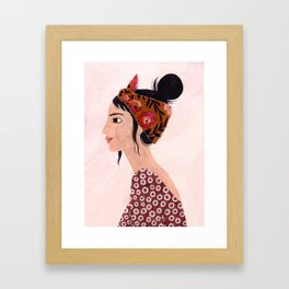 Embroidered scarf Framed Art Print