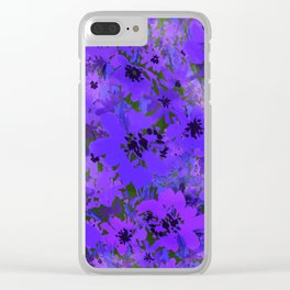 Heavenly Blue Garden Clear iPhone Case