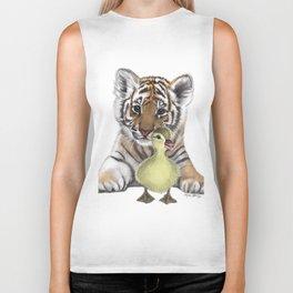 Tiger Cub and Duckling Biker Tank