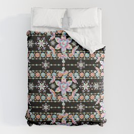 Folkloric Snowflakes Comforters