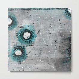 Charcoal Circles Left Metal Print