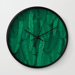 Tropical Garden Wall Wall Clock