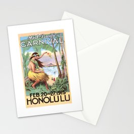 1915 HAWAII Mid Pacific Carnival Travel Poster Stationery Cards
