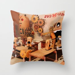 Toy Works Throw Pillow