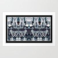 hindu Art Prints featuring HINDU WORLD by Kathead Tarot/David Rivera