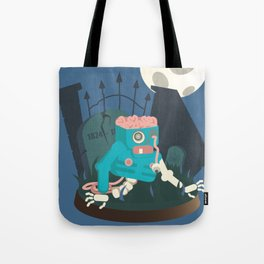 ZOMBIE CRAWLER IN CEMETARY Tote Bag