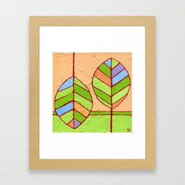 Spring Leaves Framed Art Print