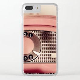 Retro rotary dial phone Clear iPhone Case