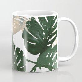 green leaves monstera Coffee Mug