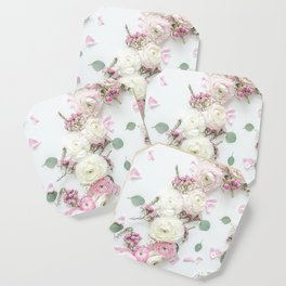 SPRING FLOWERS WHITE & PINK Coaster