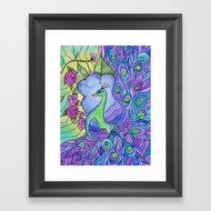 Peacock Garden Too Framed Art Print