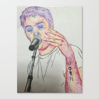 tyler spangler Canvas Prints featuring Tyler by Jessi